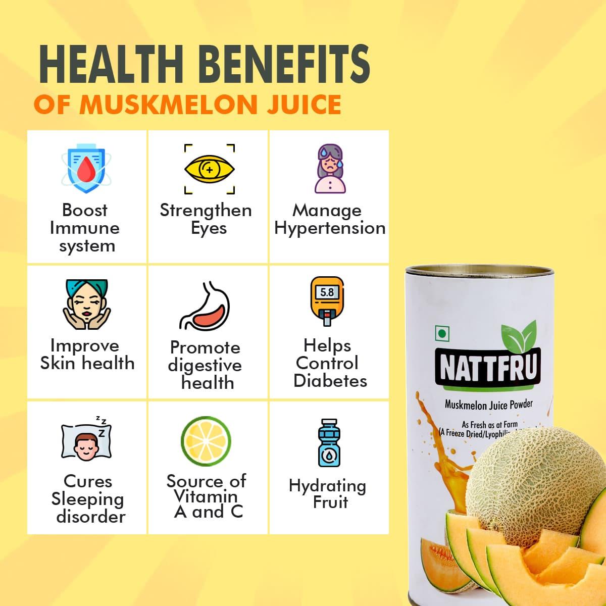 muskmelon juice powder