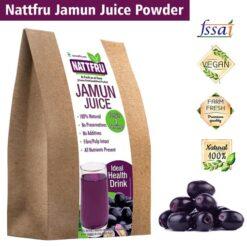 Freeze Dried Jamun or Black Plum from Nattfru