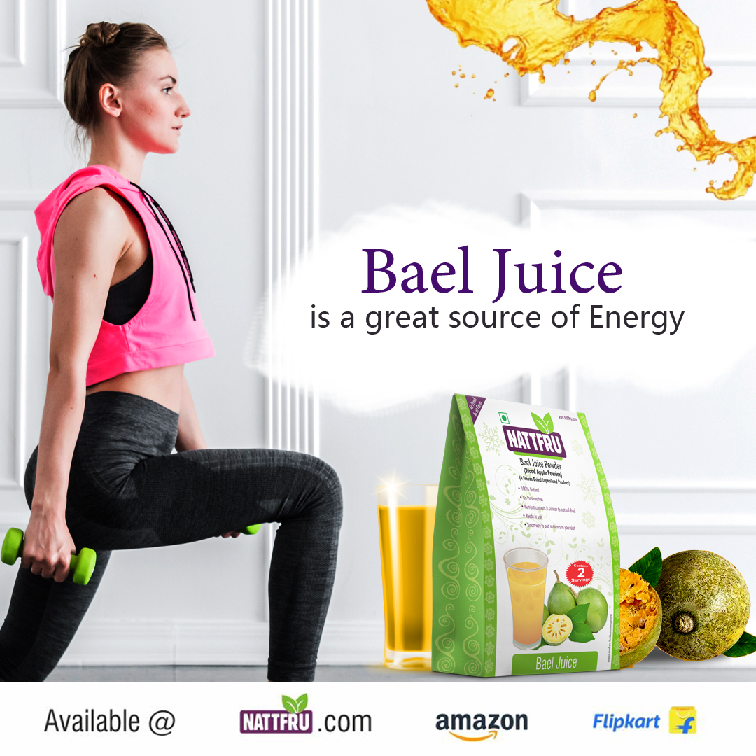 Bael Juice is a great source of energy