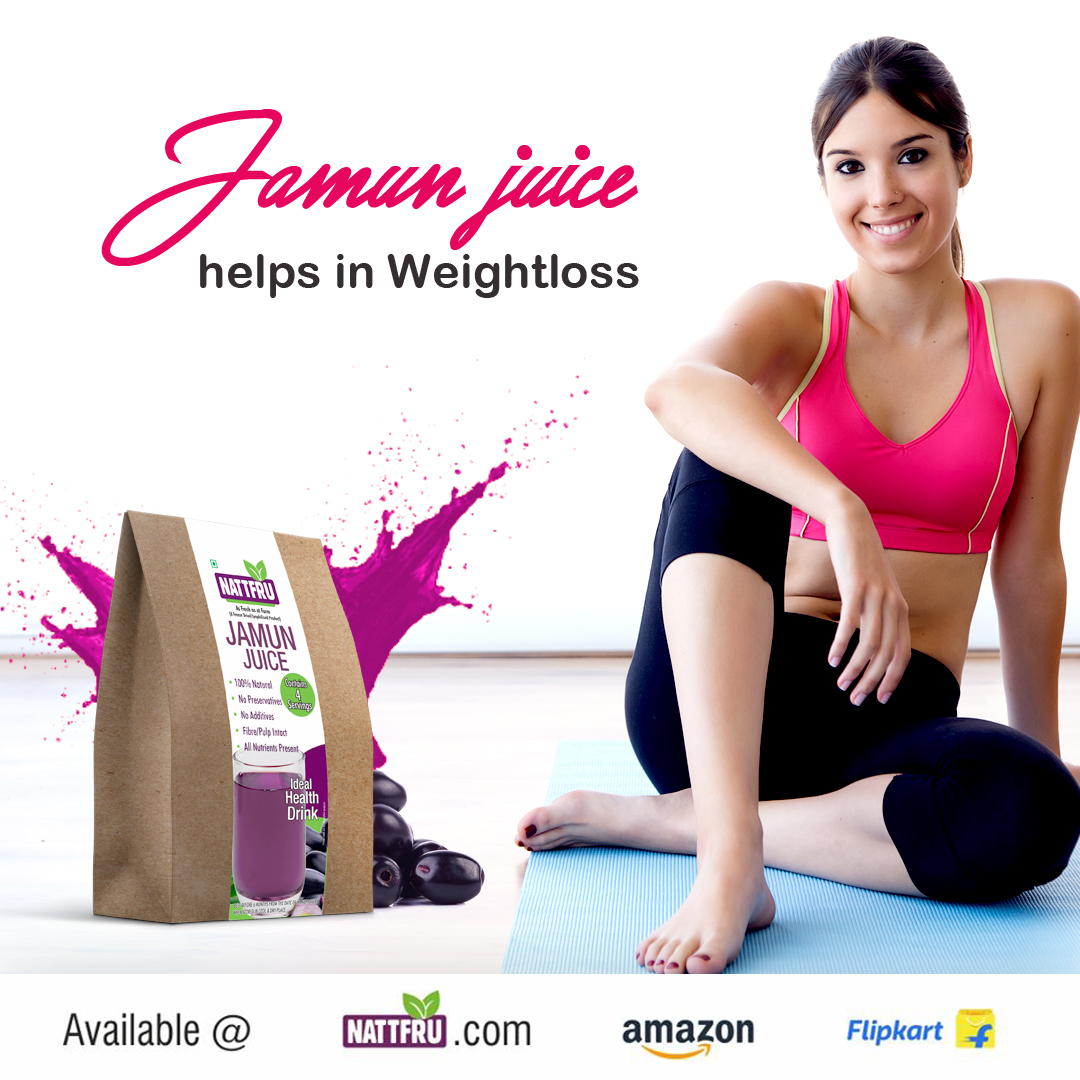 Jamun Juice helps in Weightloss