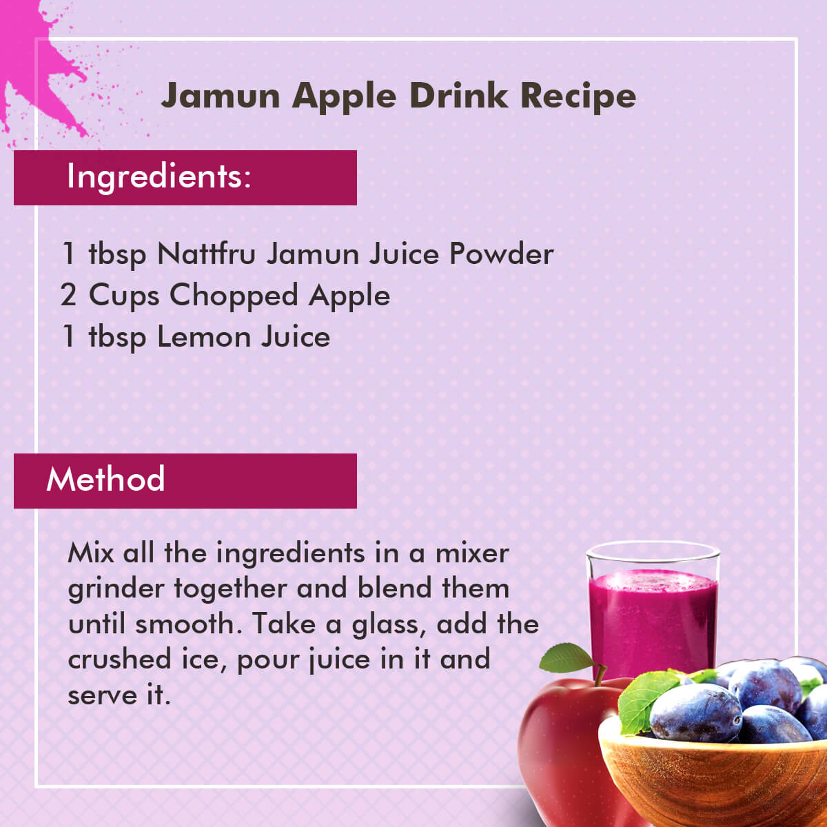 fruit powder juice sugar diet